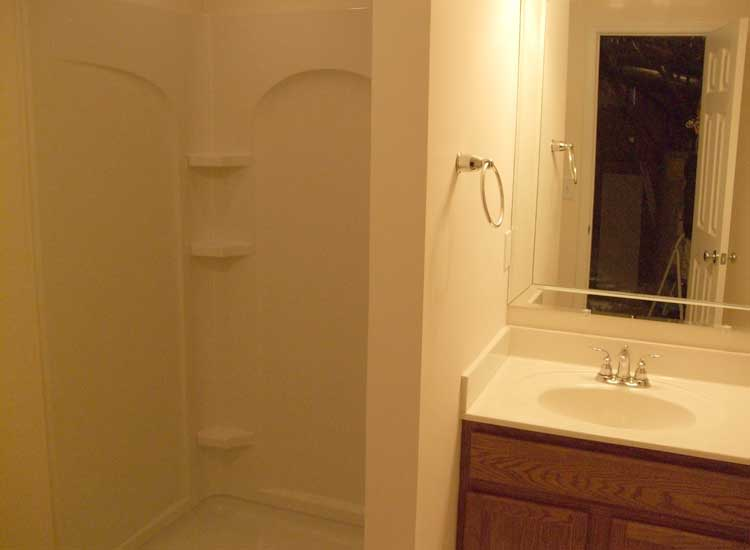 Atlanta basement finishing ideas home improvement gallery Cheap bathroom remodel