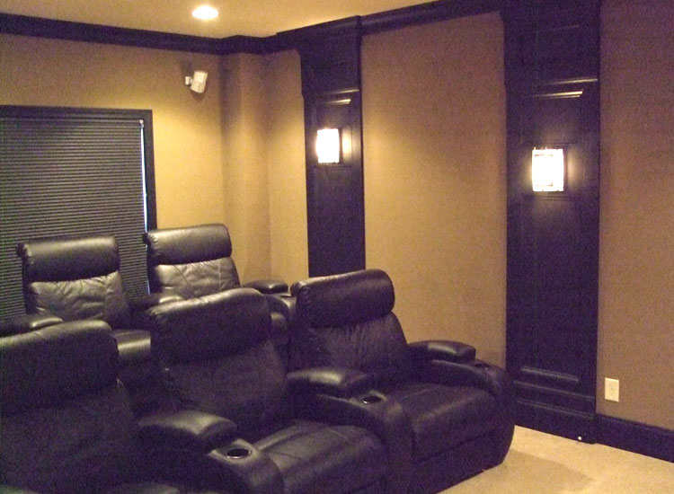 Wall Sconces For Media Room : Wall Sconces Home Theater Homes Decoration Tips