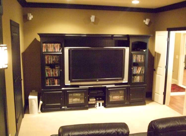 Media Room Basement Finishing Marietta Part 52