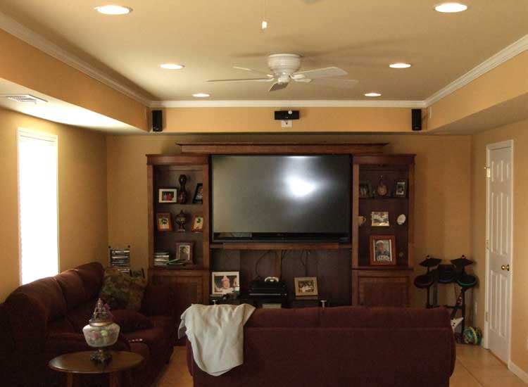 media-room-custom-basement-finishing-woodstock-ga Ideas For Finishing A Basement