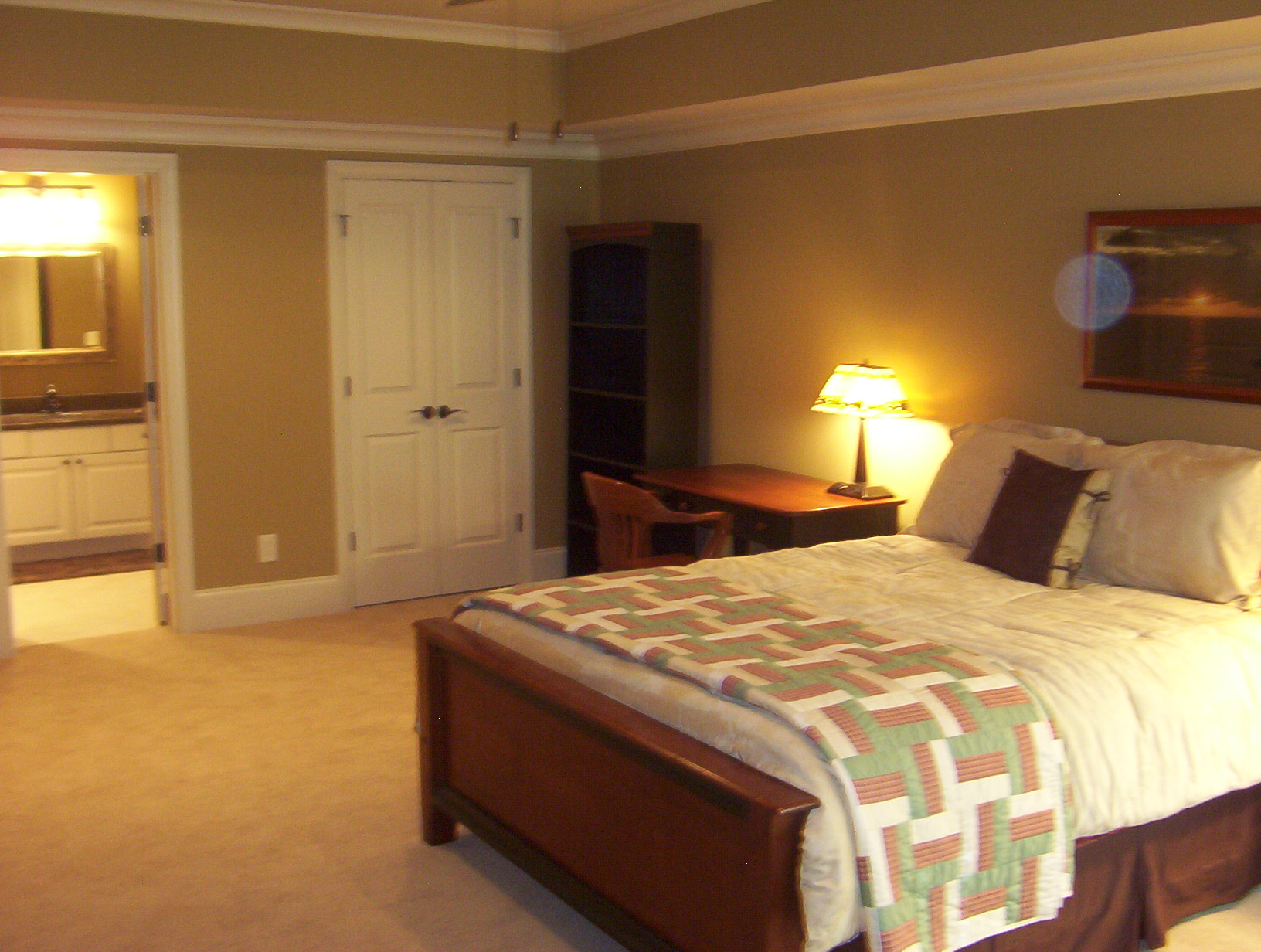 Bedroom Suite Basement Marietta Atlanta Home Completion