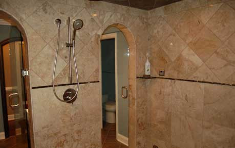 Custom shower and steam room