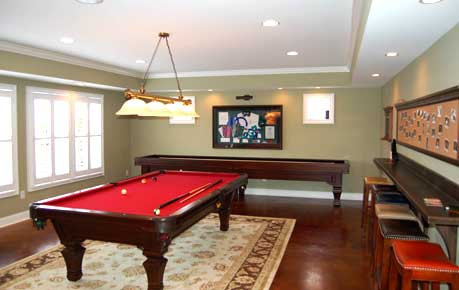 Game room, basement remodel